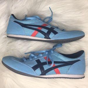 Powder blue onitsuka tiger size 7 striped sneaker
